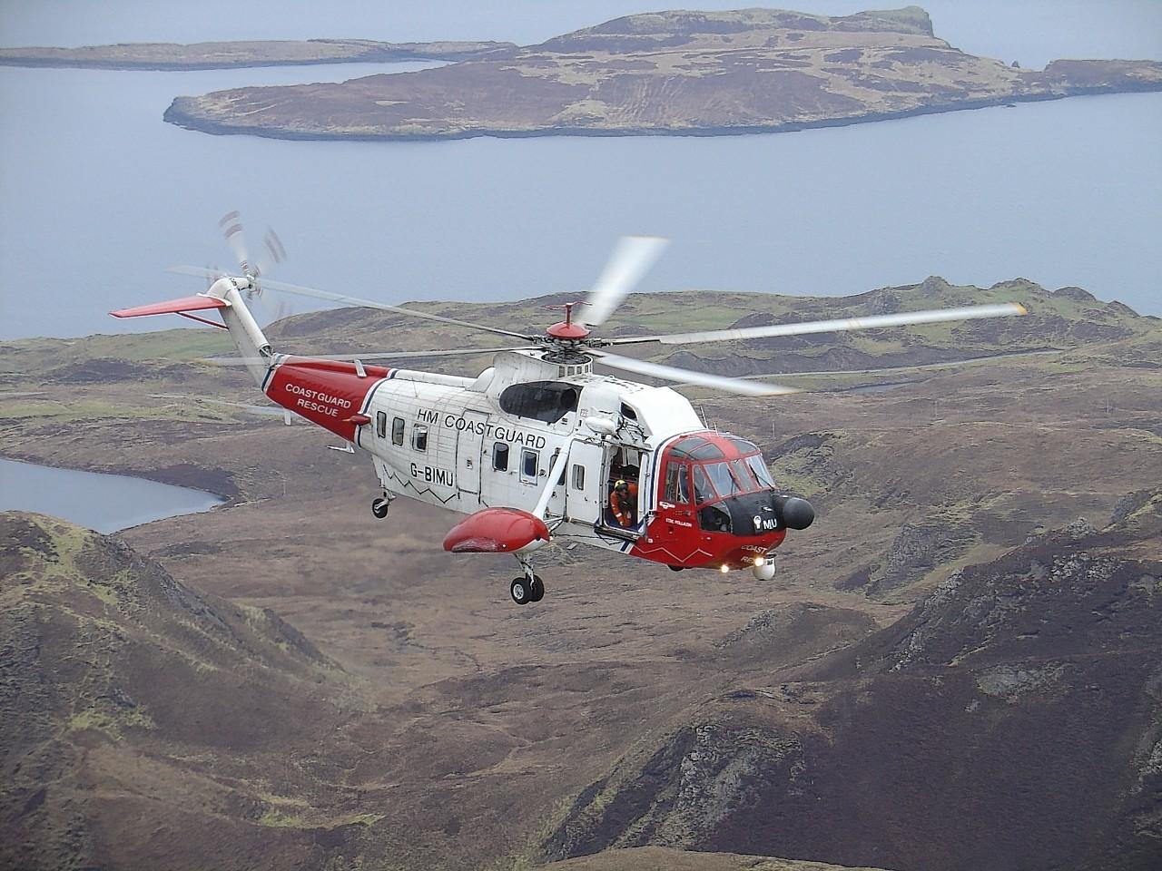 Stornoway Coastguard helicopter