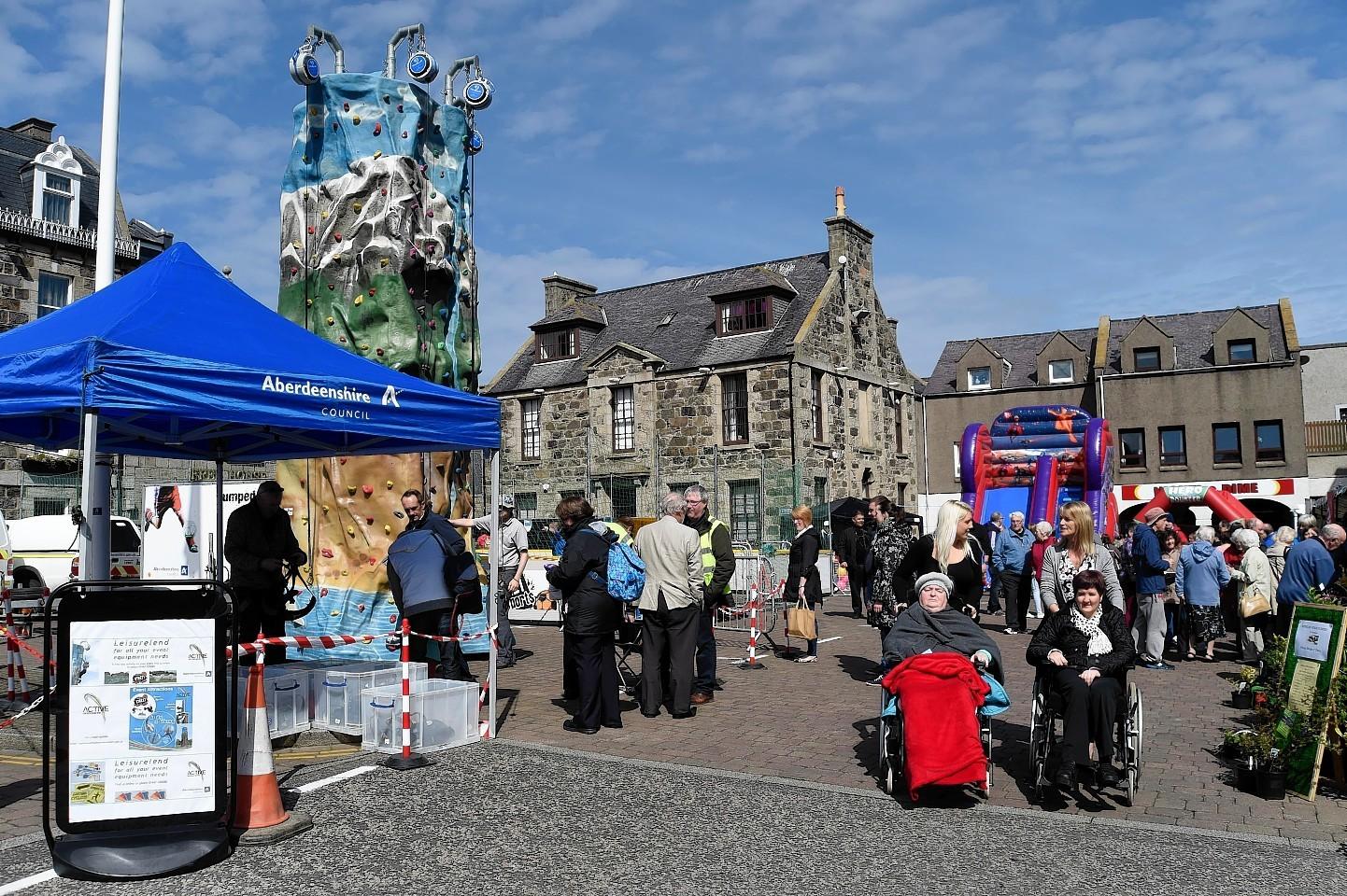 Super Saturday markets in Fraserburgh.