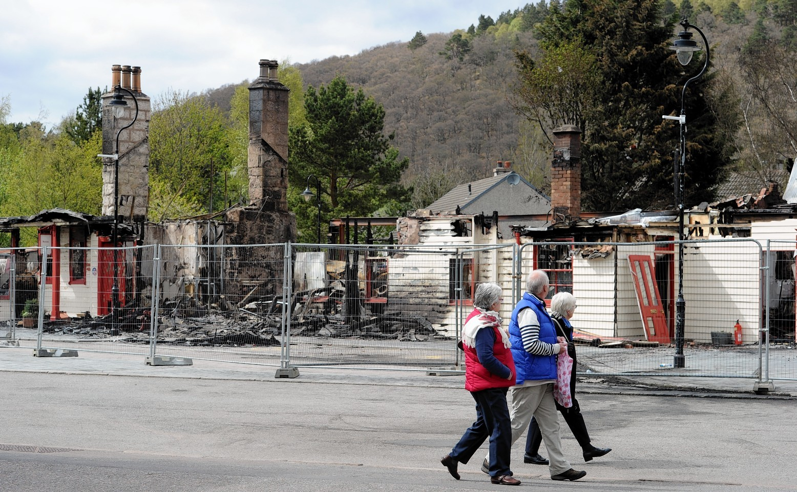Scottish Fire and Rescue attend a fire at the old Royal Railway station Ballater
