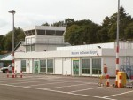 The plane was due to land at Dundee Airport