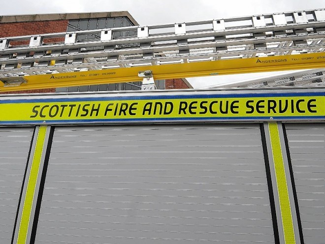 Firefighters were at a wildfire on the Black Isle