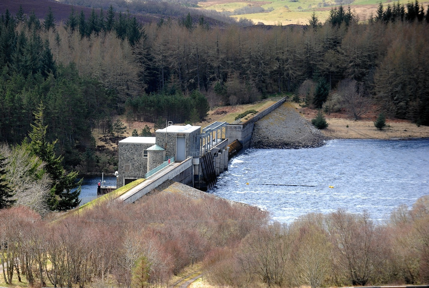 The Lairg Dam and Power Station. Photograph by Sandy McCook