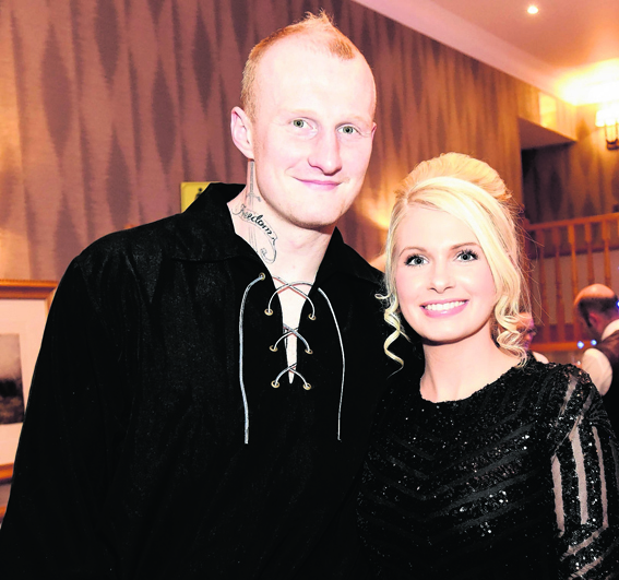 Inverness heavyweight boxer Gary Cornish and Lauren Oliver at the Kilt-imanjaro charity dinner