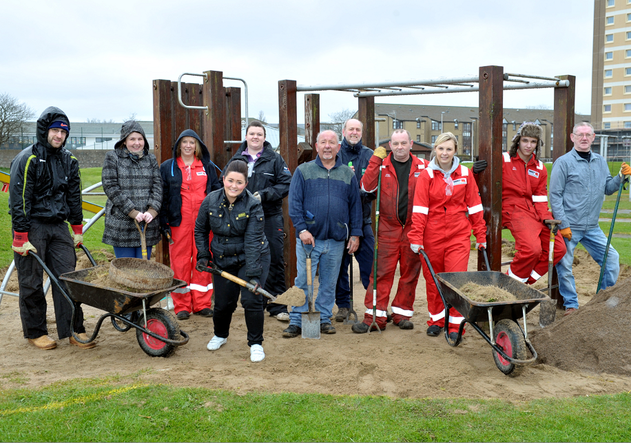 Volunteers from the Seaton Backies project have been slowly converting disused land in the area into family-friendly play areas.