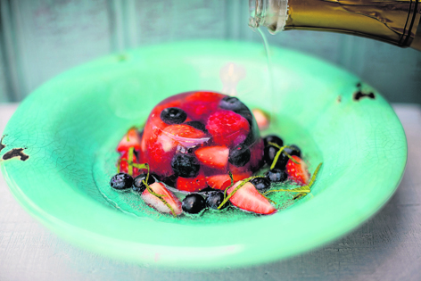 Tom Kitchin's delicious Champagne jelly