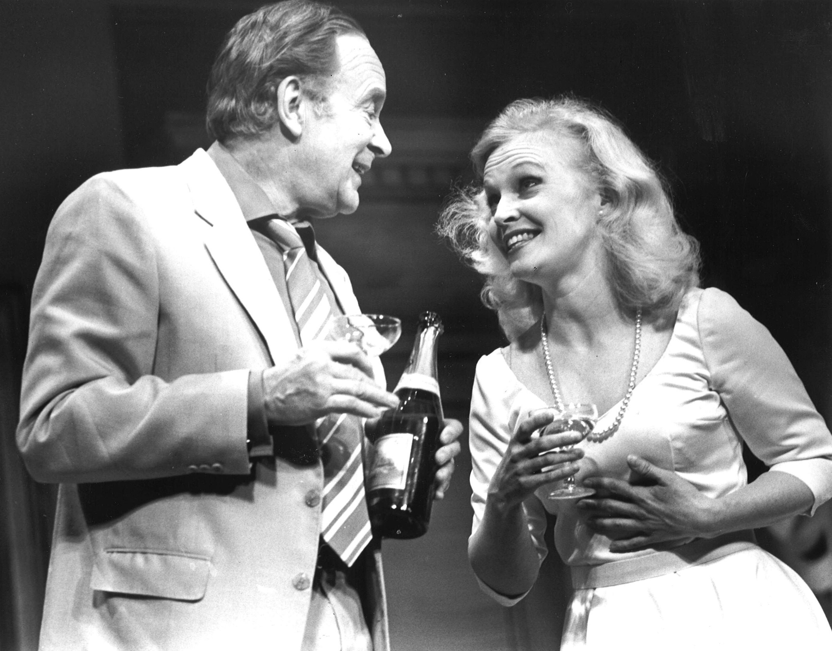 Tony Britton and Sandra Dickinson star in the sophisticated American comedy The Seven Year Itch in 1986. Picture by Portman Theatrical Productions.
