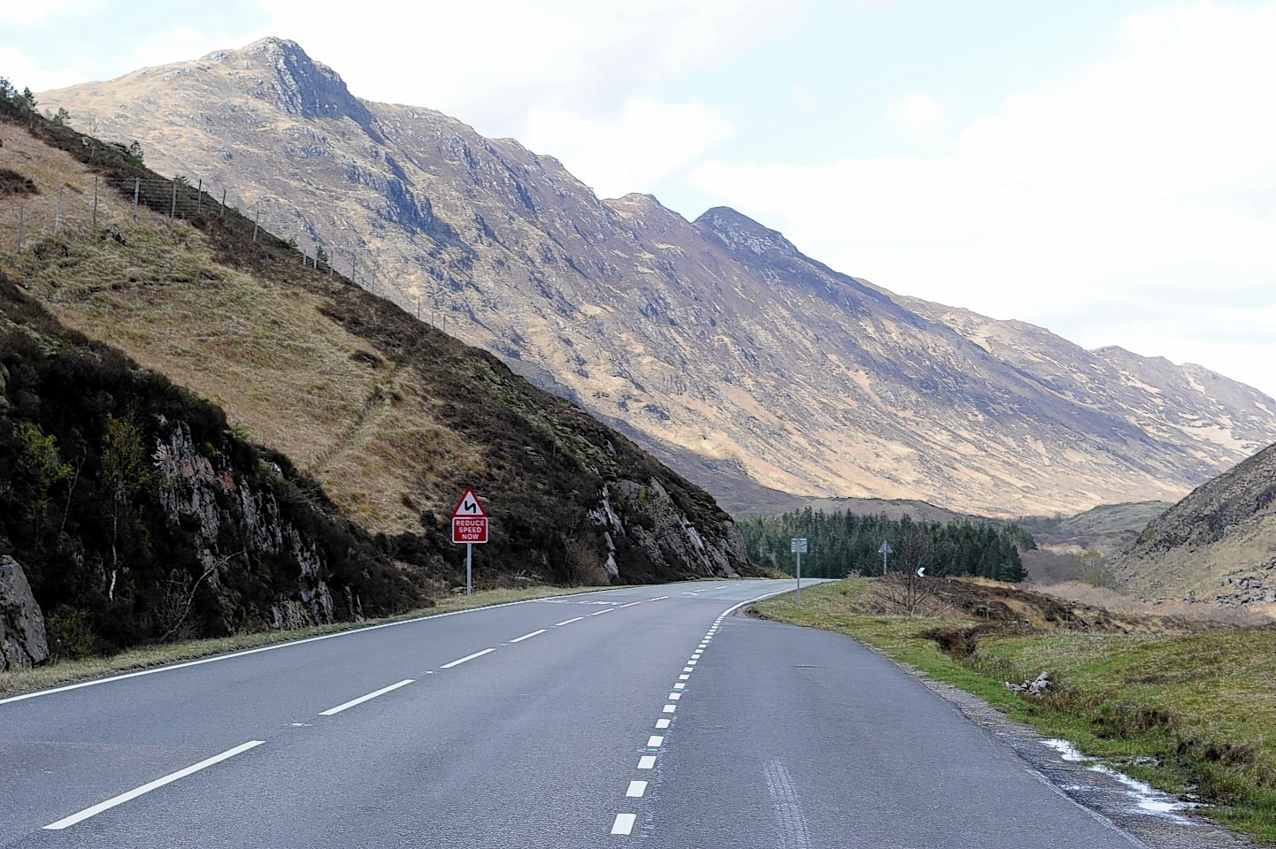 The incident happened on the A87 road