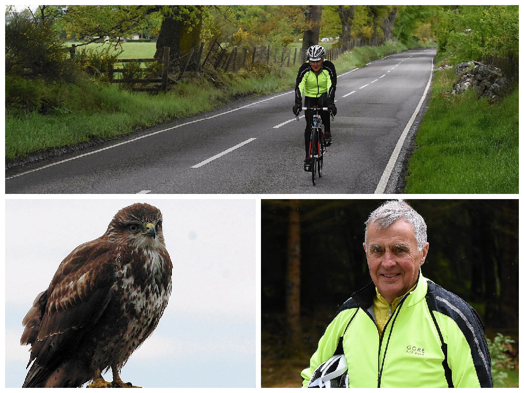 John Leggett who was twice attacked by a buzzard on the Marybank to Muir of Ord road.
