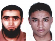 Bin Abdallah (left) and Rafkhe Talari,  who are being sought by Tunisian authorities in connection with the terror attack in Sousse