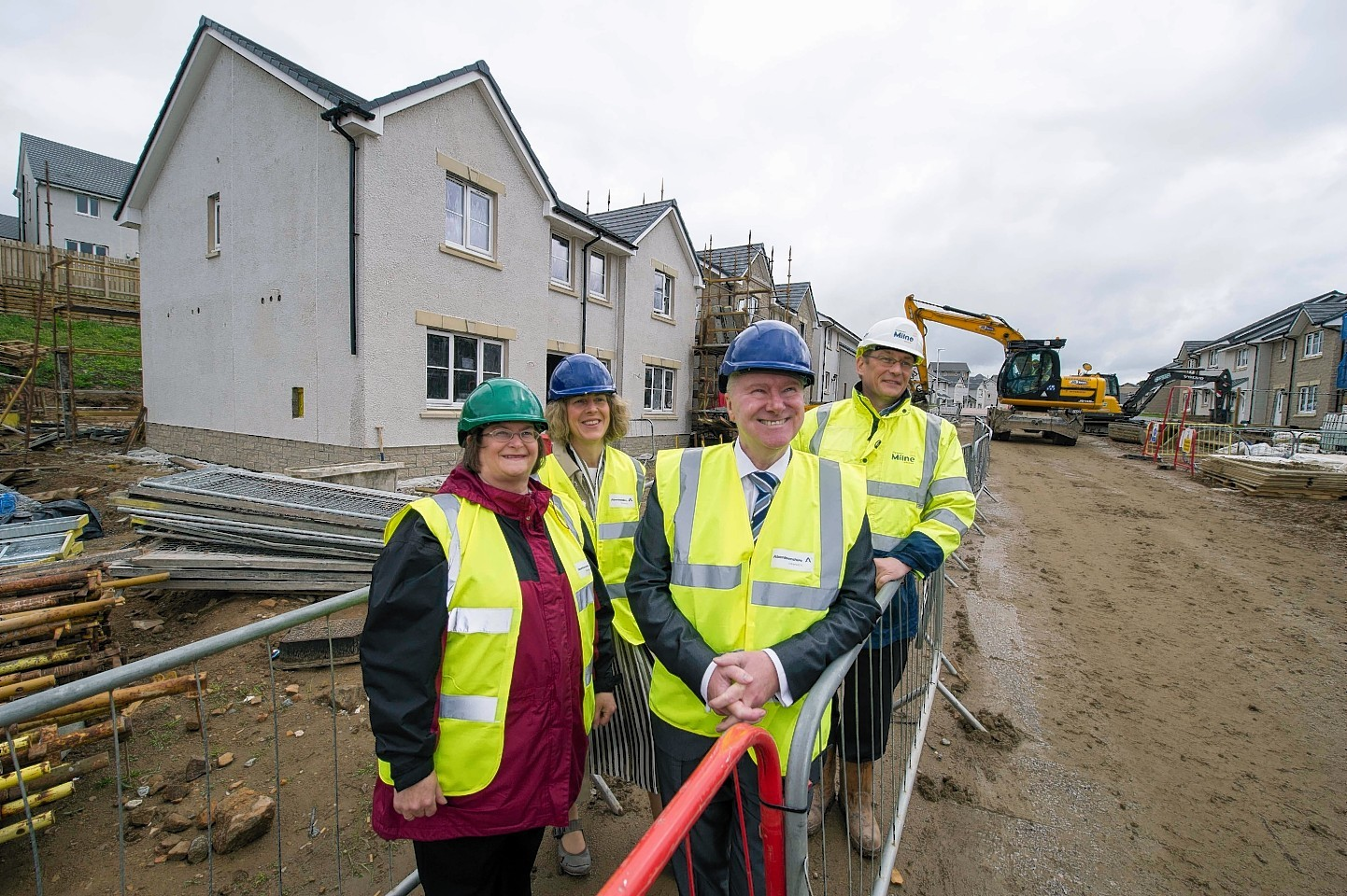 Cabinet Secretary Alex Neil with John Low, Anne Allan and Allison Grant heralding in new affordable homes to Westhill earlier this year