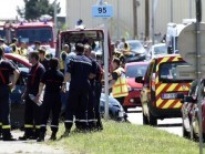 The scene of the terror attack in France