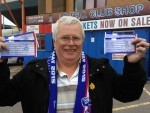 Ally Middleton with his tickets