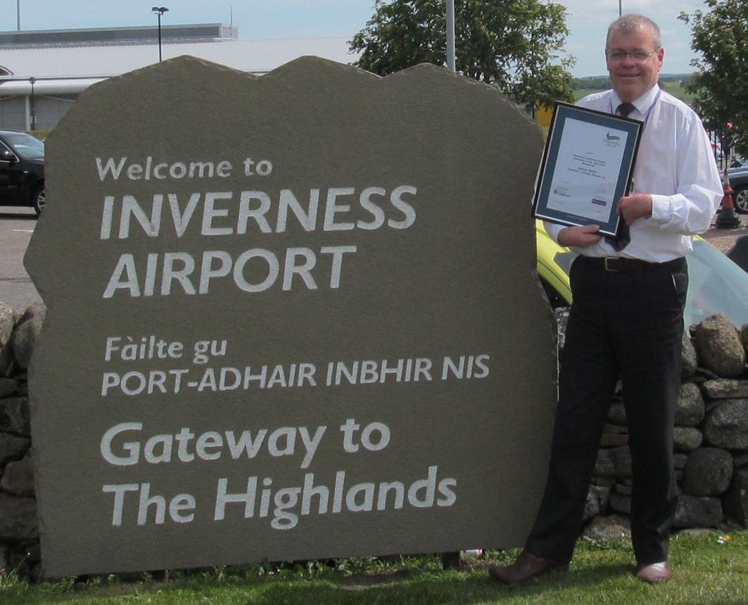 Callum SmIth of Inverness Airport