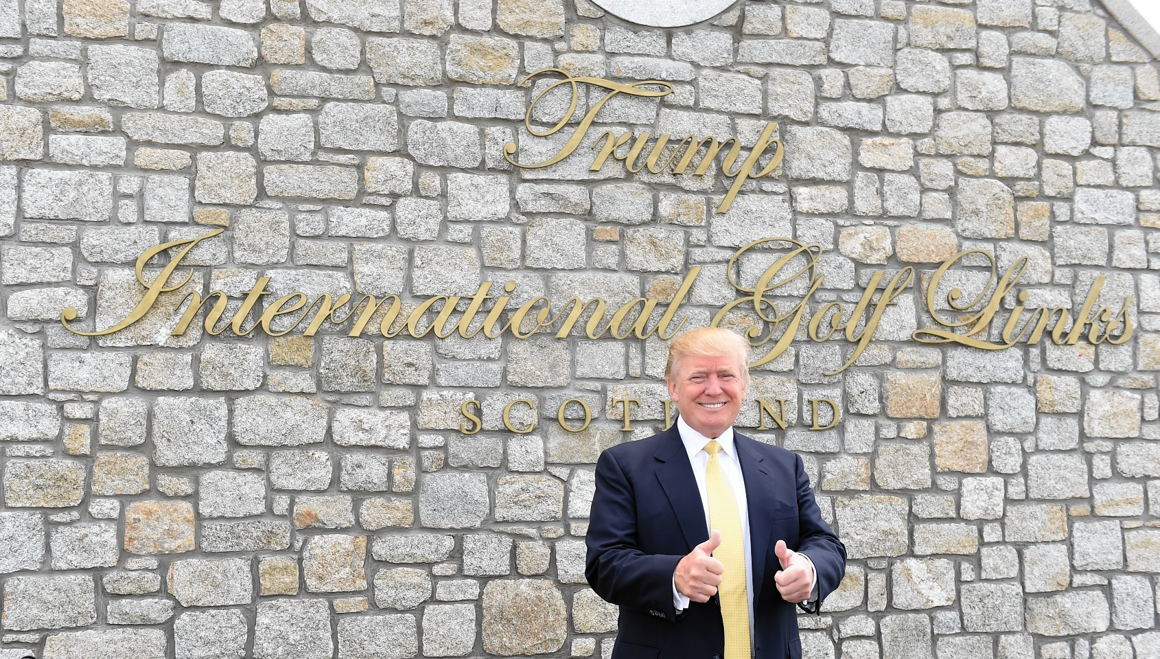 Donald Trump at the opening of the clubhouse