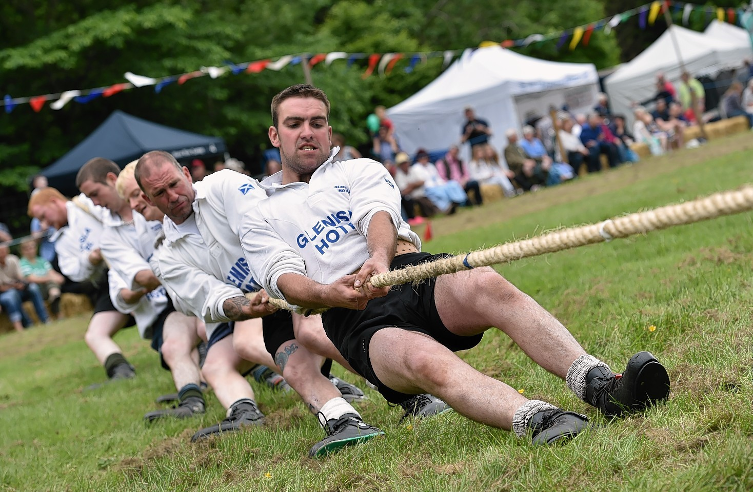 A record 2,500 people attended the 39th Drumtochty Highland Games on Saturday. Picture by Colin Rennie