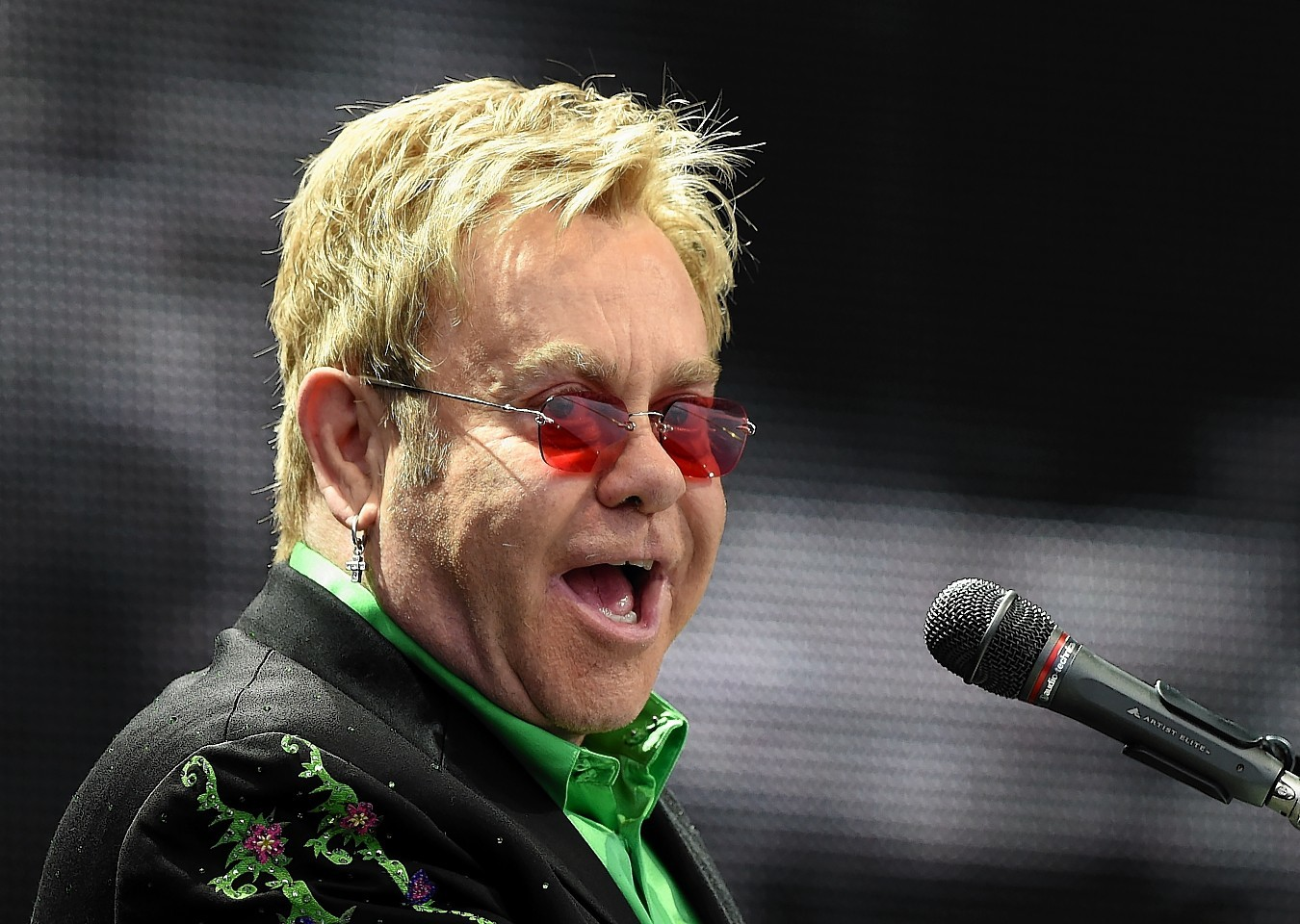 Elton John performing at an open air concert at AECC. Picture by KEVIN EMSLIE