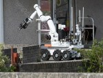 The bomb disposal unit's robot carried out a controlled explosion outside the Co-operative supermarket in Fraserburgh