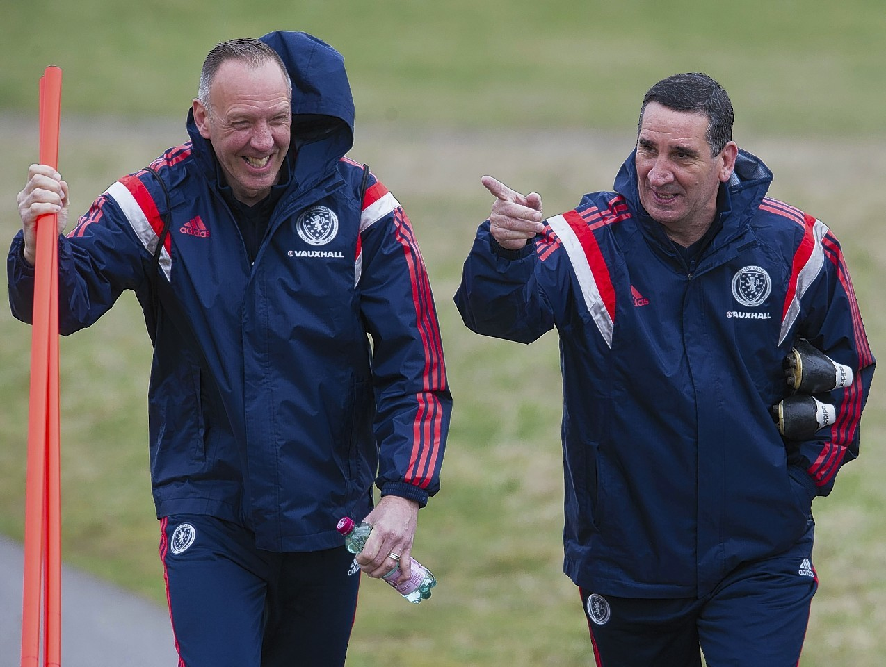 While coaching with Motherwell Marshall also helped out with the Scotland under-19 team