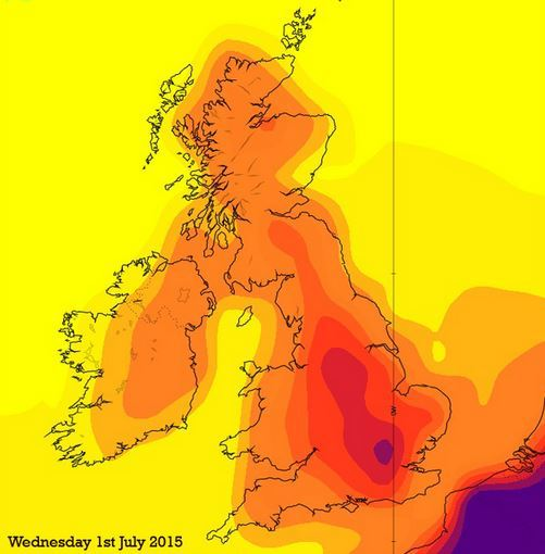 Make sure you look out your sun cream on Wednesday!
