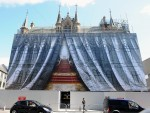 Inverness Town House is draped