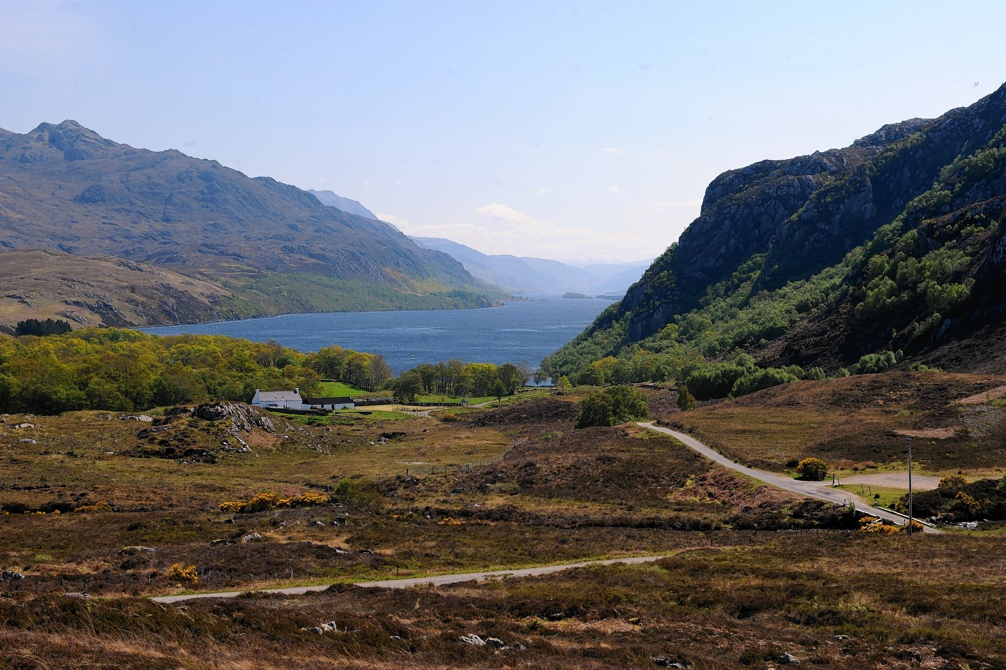 Loch Maree from above Poolewe