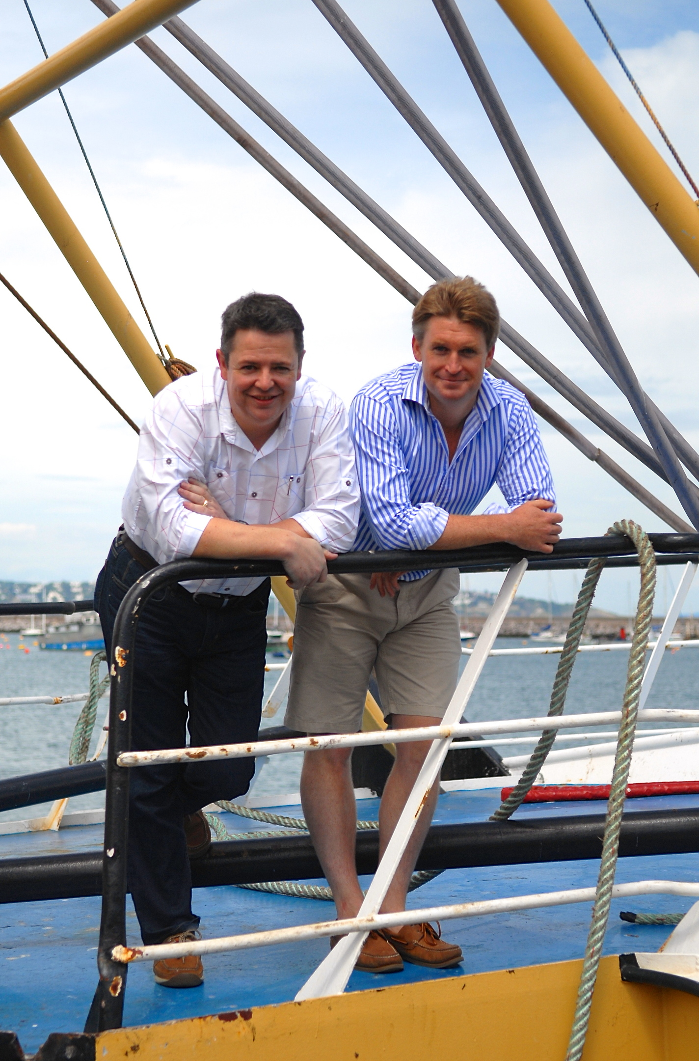 Macduff chairman Euan Beaton, left with Mat Carter, managing director at the Greendale Group