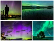 The Northern Lights were clear and quite spectacular in the US last night
