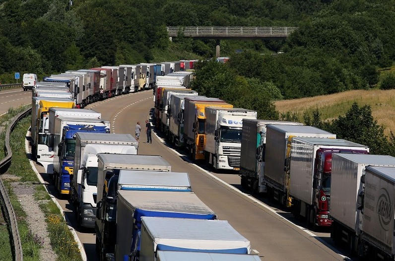 The industrial action in Calais is causing serious disruptions