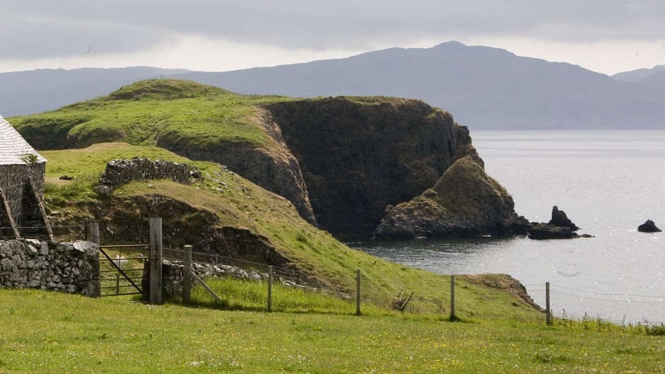 Sanday is linked by bridge to Canna (pictured).