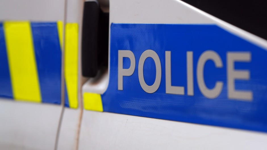 Police are at the accident on the A830