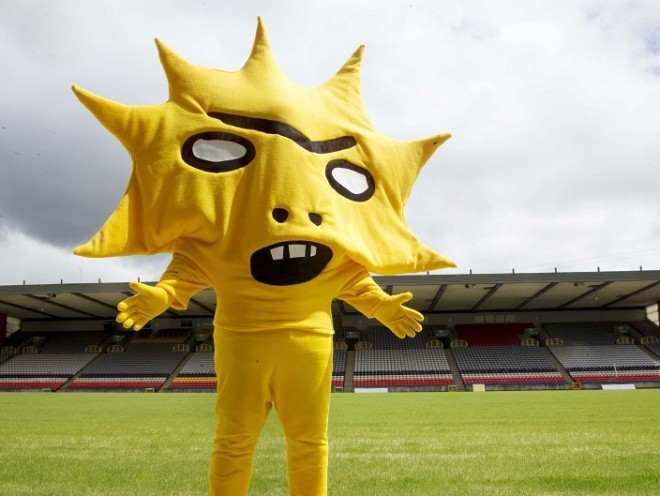 Partick thistle attempt to scare away fans with new mascot kingsley