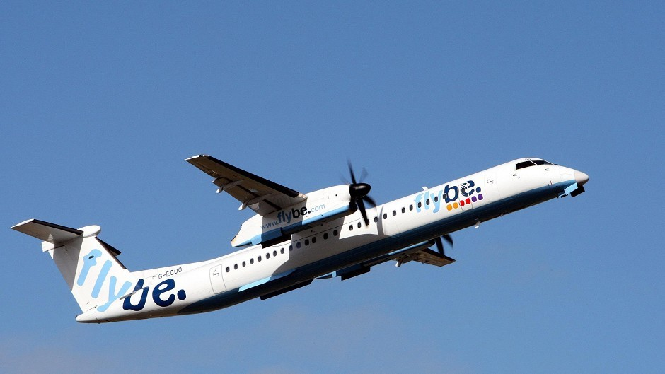 The Flybe flight was forced to turn back on itself after the emergency