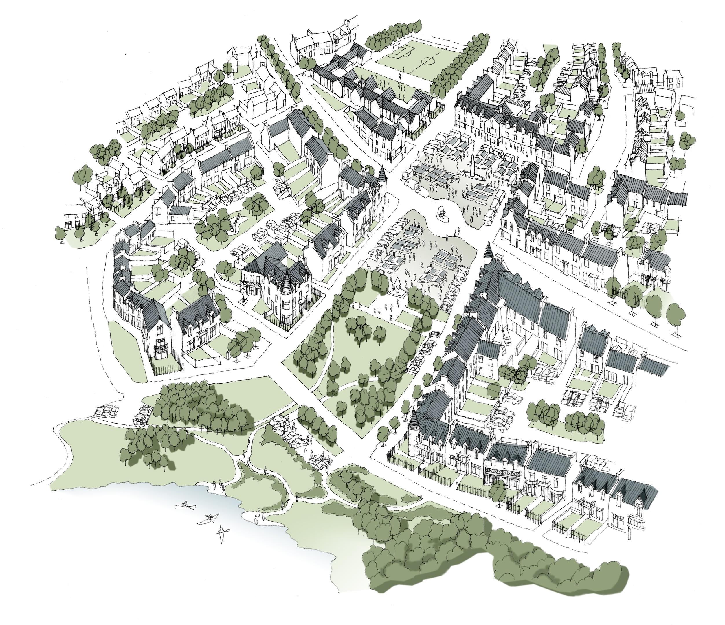 Artist impression of plans for Park Quarry in Durris
