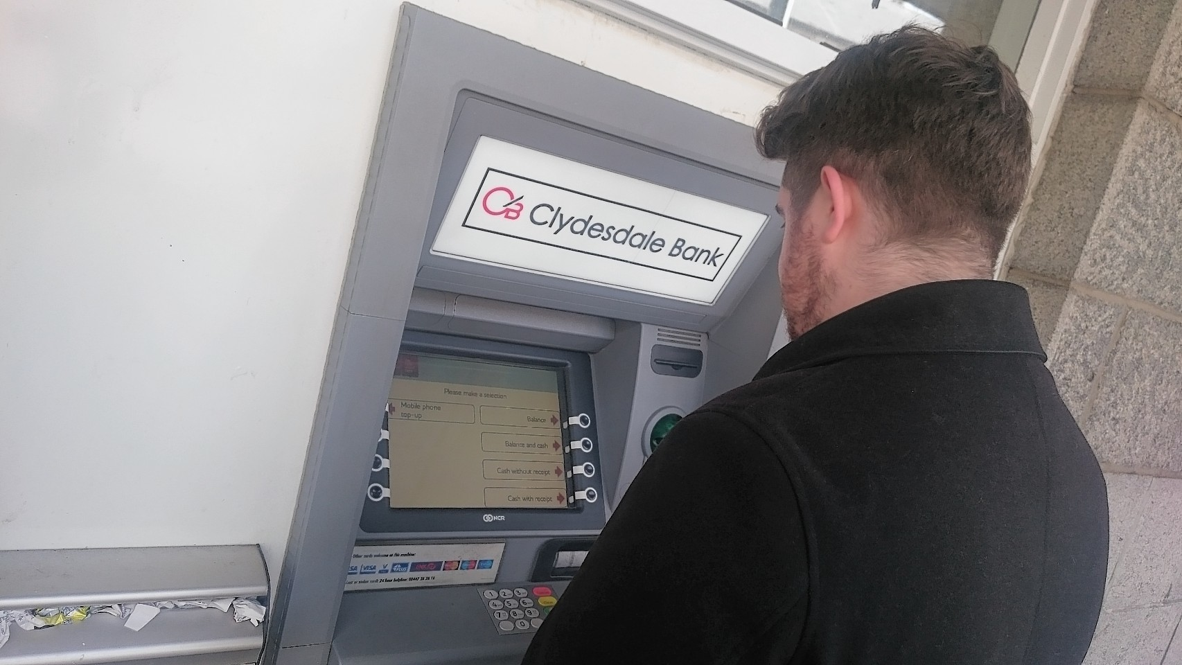 The bank has re-opened an ATM in Mintlaw.