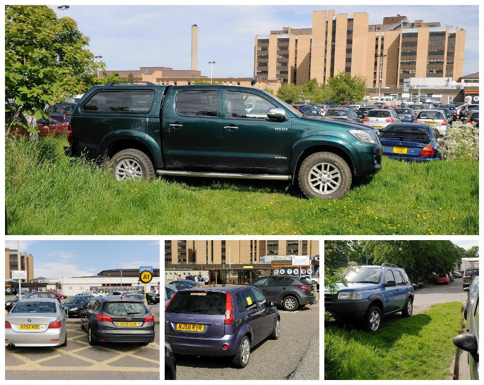 Bad parkers at Raigmore Hospital