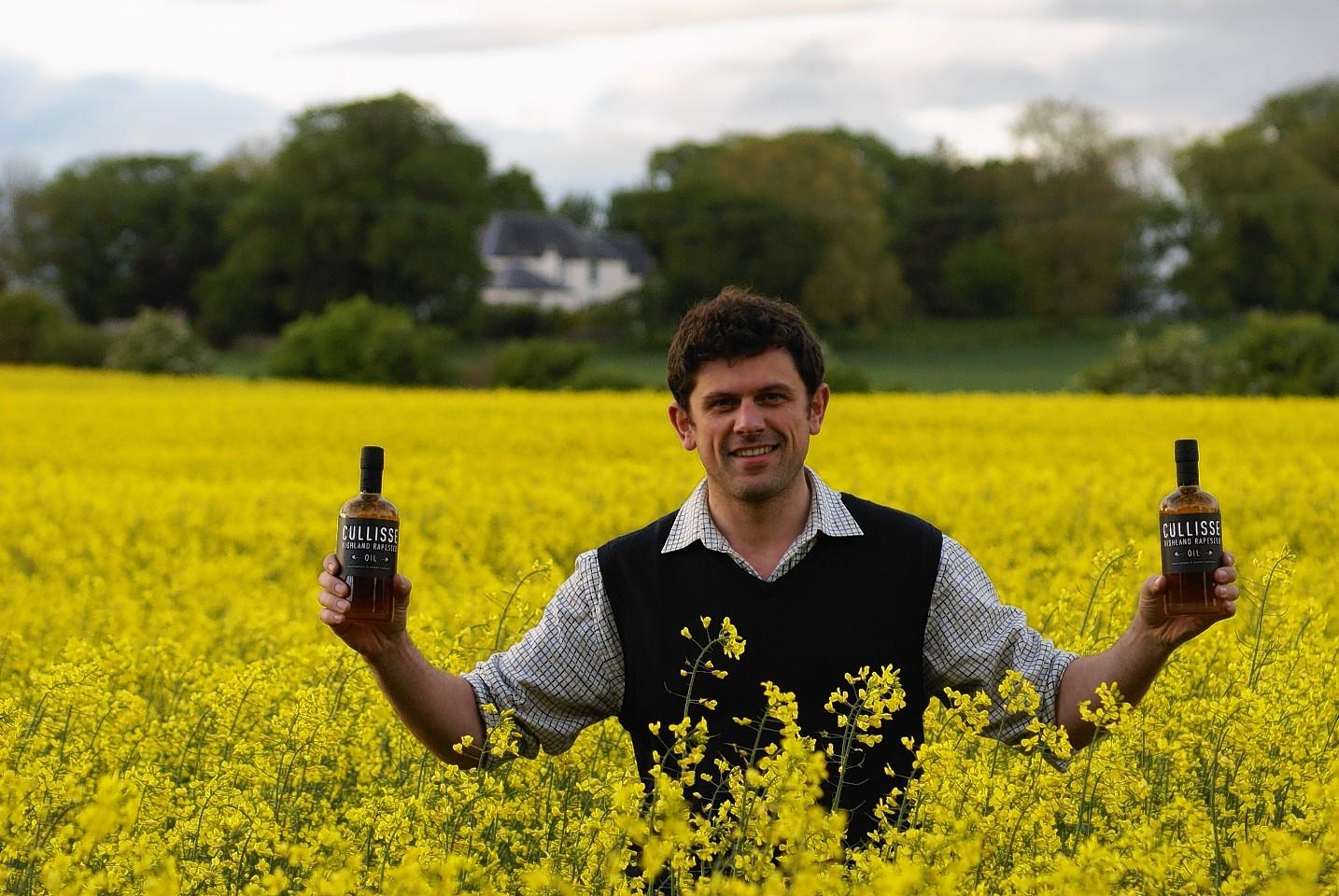 Robert Mackenzie, managing director of Cullisse Highland Rapeseed Oil