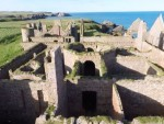 The video visits Aberdeen Harbour, Cruden Bay and Slains Castle.