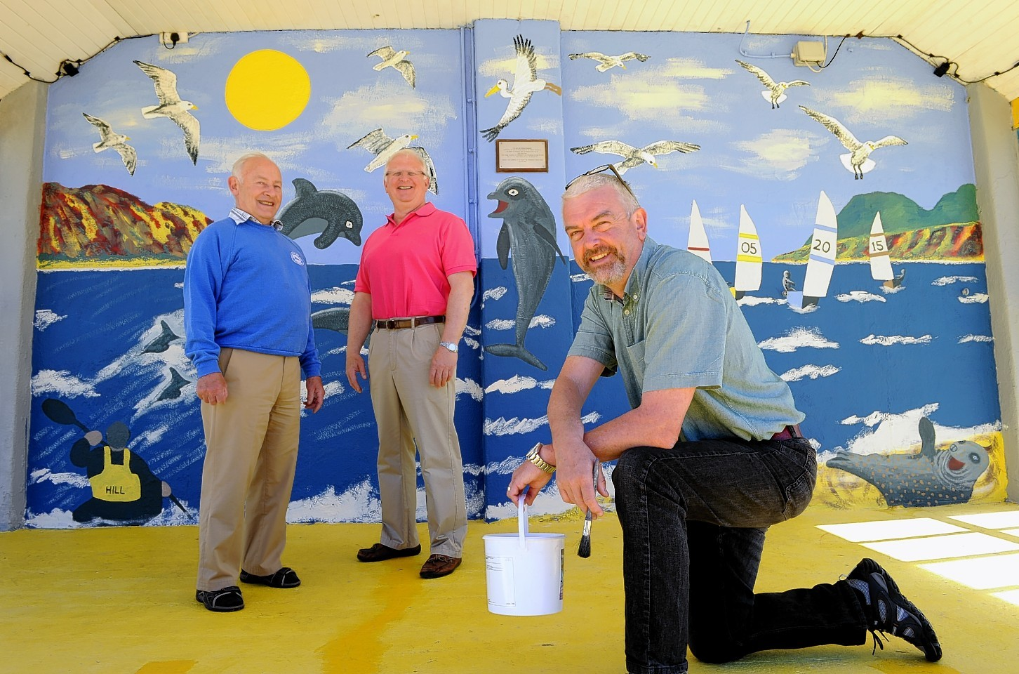 The Friends of Stonehaven Open Air Pool are one of the groups who have been awarded the volunteering equivalent of an MBE - the Queen's Award for Voluntary Service. (from left) Friends of Stonehaven Open Air Pool David Culshaw and  David Dobbie with Pete Hill.