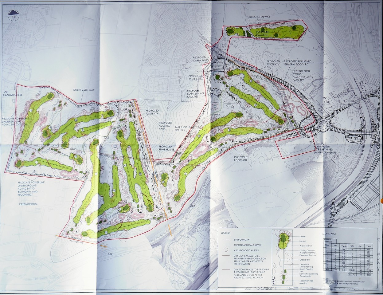 The plans for Torvean Golf Course