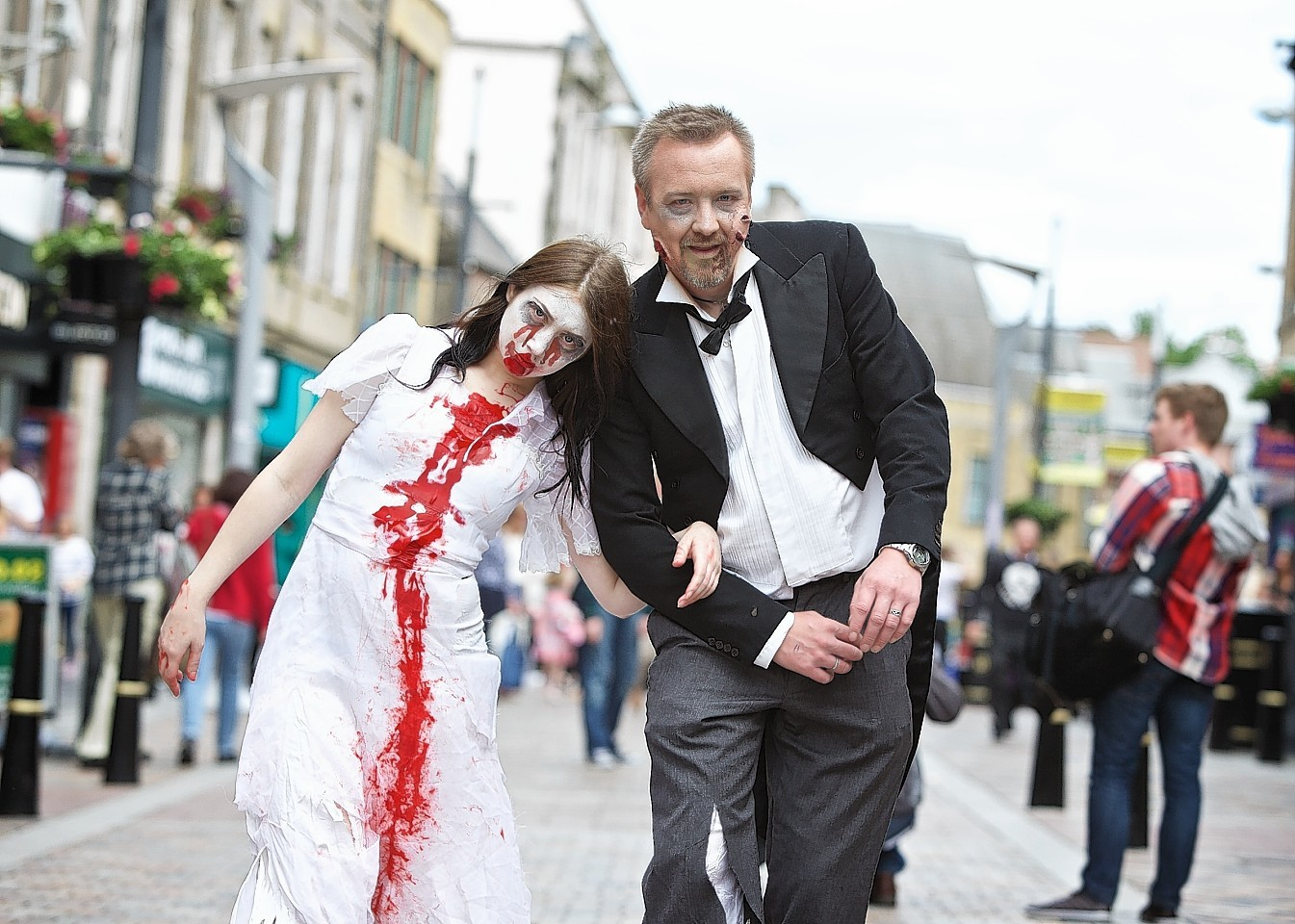 "Costumed ""zombies"" in Inverness in 2015"