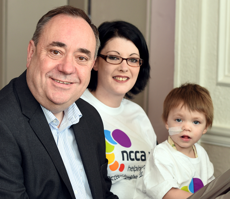 Alex Salmond congratulated the Patersons on their fundraising success