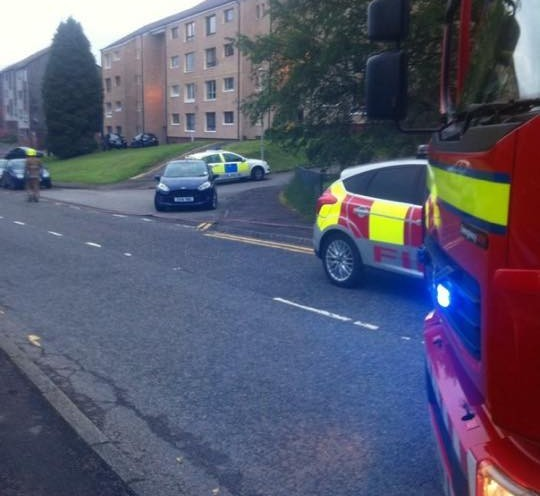 Emergency services at Jack Salter's flat in Fort William