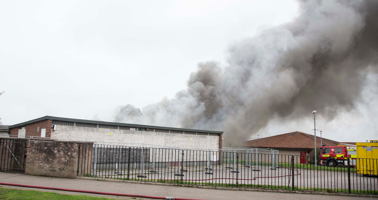 The disability centre burned down last year.