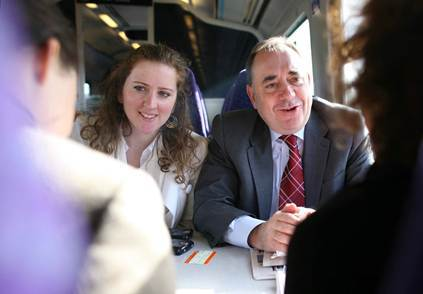 Jennifer Dempsie and Alex Salmond