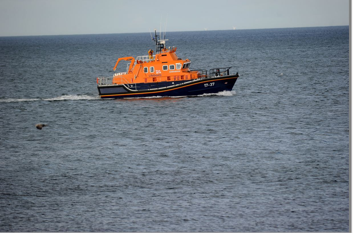Buckie lifeboat will assist the vessel later