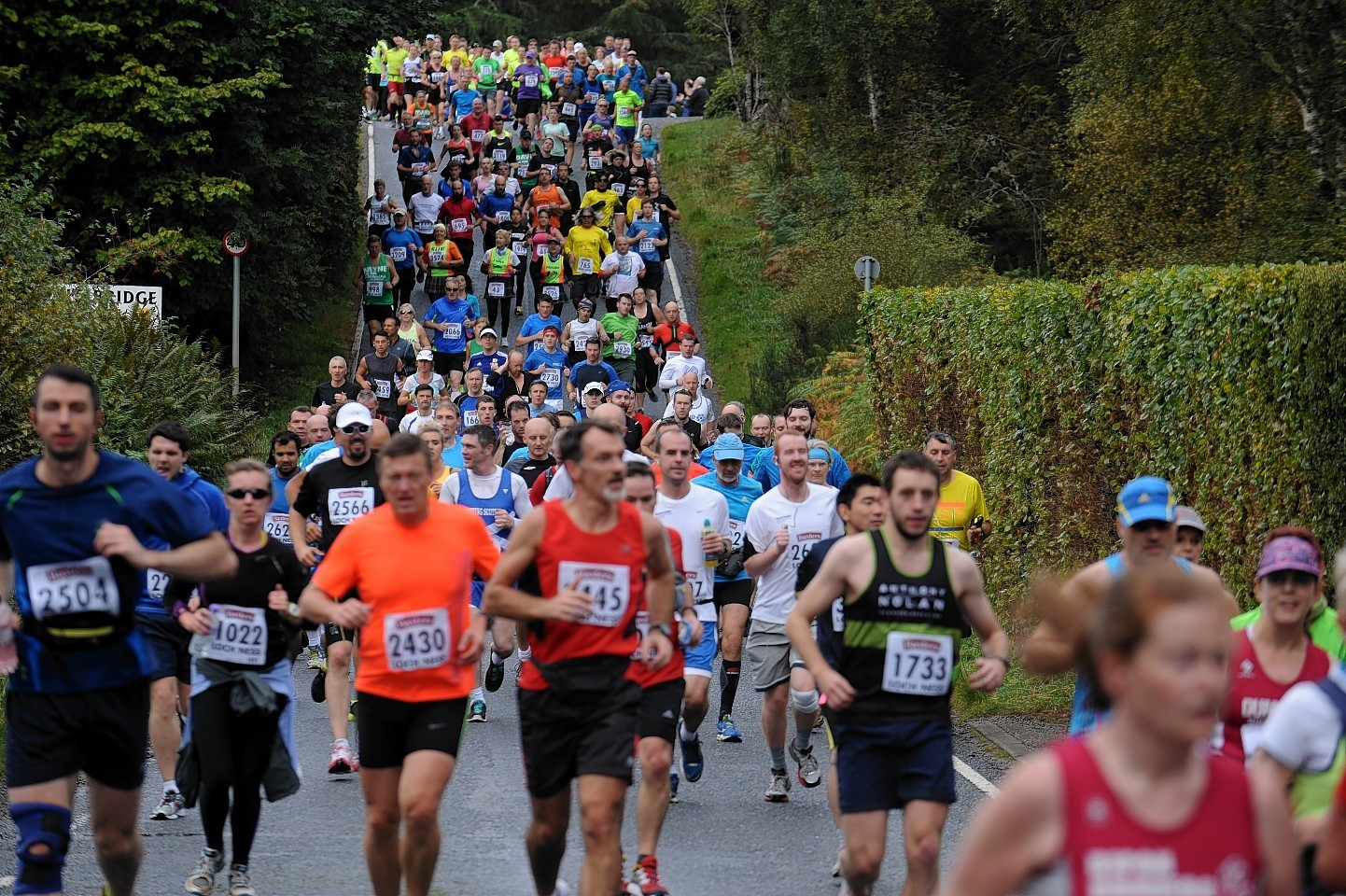 Runners take on the Loch Ness Marathon