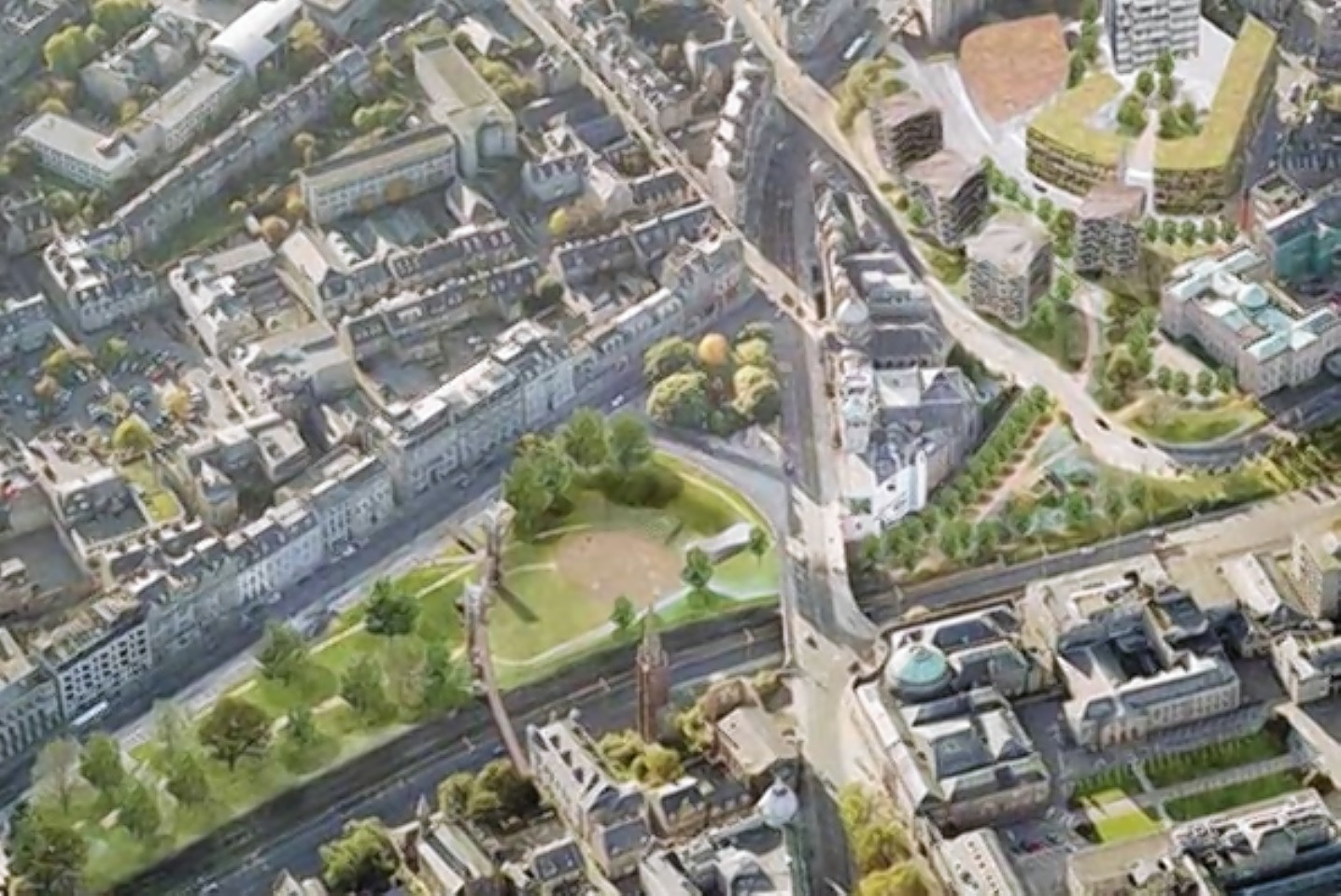 Union Terrace Gardens could be expanded  under the plans