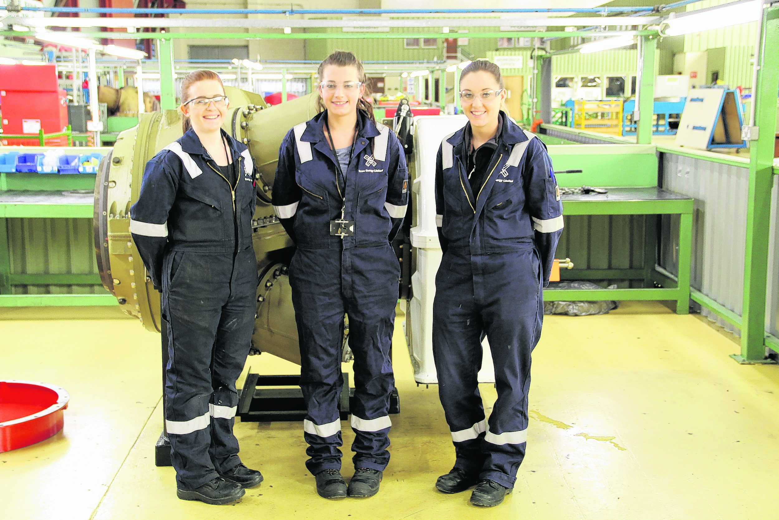 From left: apprentices Emma, Christine and Laura