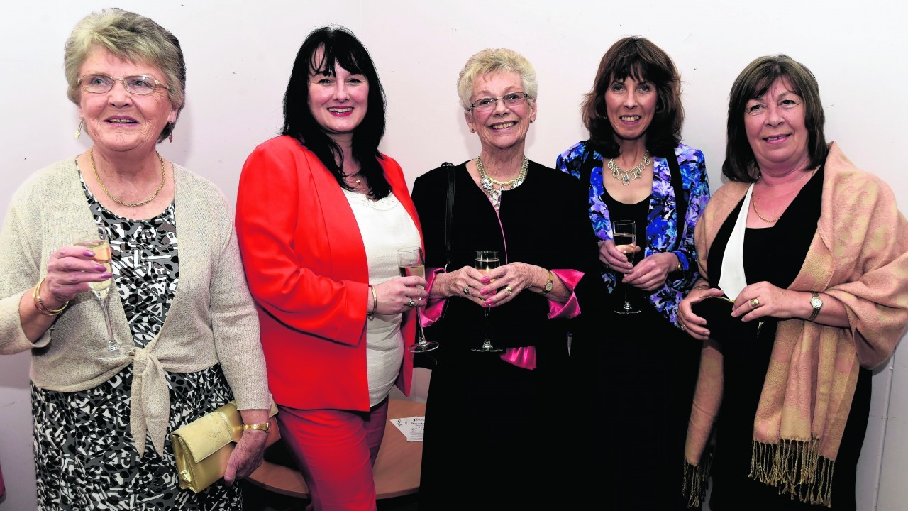 PORTSOY BOAT FESTIVAL DINNER (DUNCAN BROWN)  (L TO R)  MARGARET NIX, SALLY CRUIKSHANK, JUNE GOODYEAR, LES ASHWORTH, KATHRYN MACKAY
