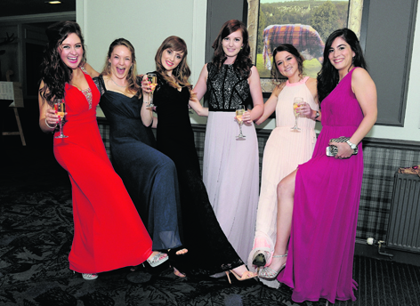 Lexie Bryson, Deirdre Doody, Anna Dickson, Helen Marsh, Tyne Bradley and Miriam Alawi at the Network Aberdeen Spring Ball